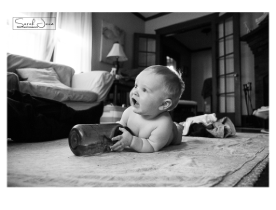 Image of baby with water bottle