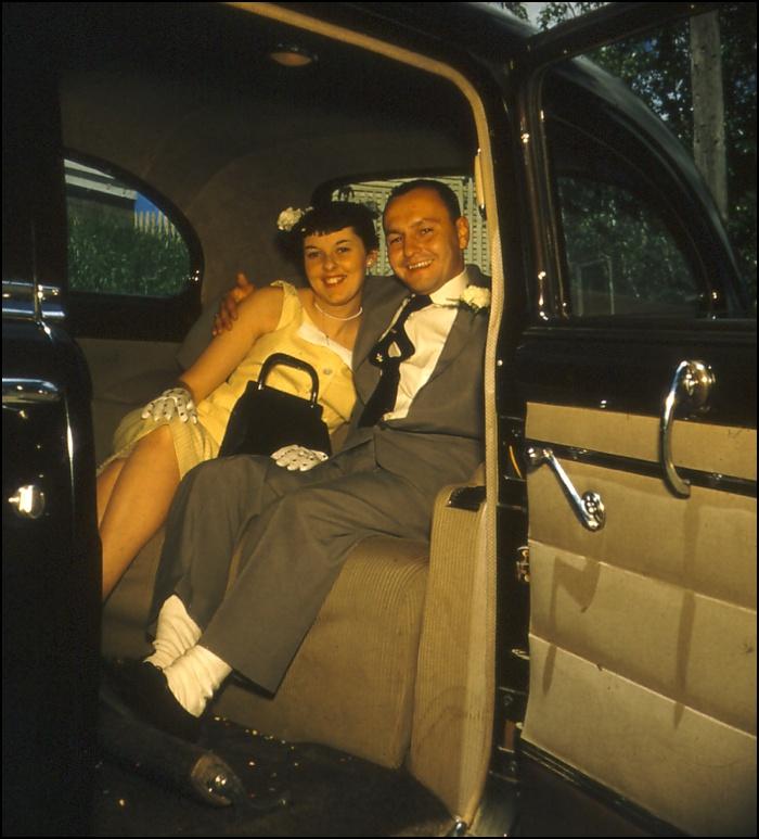 Happy Wedding Couple circa 1956 Maine